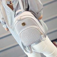 pacote coreano para mulheres venda por atacado-Moda Mini Mochilas Para As Mulheres Mulheres Mochila De Couro Sacos De Escola Zipper Bags Back Pack Mochilas Coreano Saco de Viagem Mochila