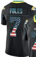 eua futebol americano venda por atacado-Jacksonville 20120 dos homens 7 20 camisas do jérsei Os EUA embandeiram as camisas pretas do futebol americano de Jersey da precipitação da cor