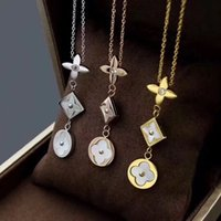 Wholesale three strand for sale - Group buy designer necklace Fashion luxury accessories Four color three tone diamond necklace luxury designer jewelry women necklaces
