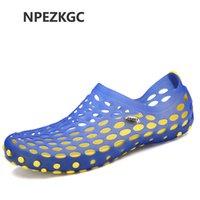 5c9cc2ac9653 NPEZKGC Men Summer Sandals Breathable Mesh Sandal Summer Beach men Shoes  Water man Slippers Fashion Slides Shoes Plus size 39-45