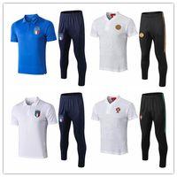 Wholesale italy soccer tracksuit resale online - 2018 Italy polo shirt long pants soccer RONALDO Tracksuit paris saint chandal futbol jogging kits soccer set