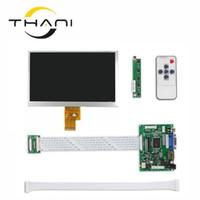 пульты дистанционного управления оптовых-Thani 7 Inch 40pins 1024(RGB)*600 TFT LCD Screen HJ070NA-13A With Remote Driver Control Board 2AV HDMI VGA for Raspberry Pi