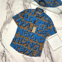 grafiti gömlek erkek toptan satış-19ss Yeni lüks marka tasarım bbr grafiti baskı eğlence bluz Gömlek Erkek Kadın Moda palid Streetwear Tişörtü Açık gömlek