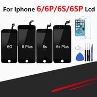 iphone montagewerkzeuge großhandel-Einzelhandel Top Qualität Touchscreen Für iPhone 6 6 Plus 6 s 6 s Plus LCD Display Pantalla Montage Digitizer Ersatz + Kostenlose Tools