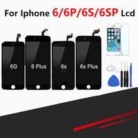 reemplazo libre del iphone al por mayor-Venta al por menor Pantalla táctil de calidad superior para iPhone 6 6 Plus 6 s 6 s Plus Pantalla LCD Pantalla Asamblea Digitalizador Reemplazo + Herramientas gratuitas