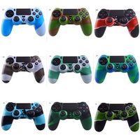 Wholesale silicone rubber case for ps4 for sale - Group buy For PS4 Gamepad Silicone Cover Rubber camouflage Case Protective Cover for Playstation Controller Controle Joystick DHL