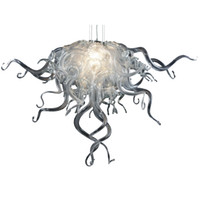 Wholesale light ceilings for sale - Group buy Modern Chandelier LED Light Source Blown Glass Chandelier Lighting quot wide Gold or Clear Color ceiling light for bedroom home decoration L