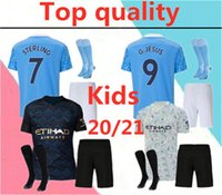Wholesale jersey city kids resale online - 2020 CITY KUN AGUERO MANCHESTER KIDS soccer jersey full kits STERLING MAHREZ JESUS SANE DE BRUYNE kids soccer jerseys