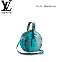 Wholesale turquoise bags for sale - Group buy mountainriver CUL N95406 Petite Boite Chapeau Turquoise Women HANDBAGS ICONIC BAGS TOP HANDLES SHOULDER BAGS TOTES CROSS BODY BAG CLUTCHES