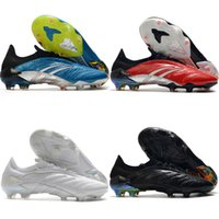 Wholesale leather quality football shoes resale online - 2020 top quality mens soccer shoes Predator Archive Limited Edition FG outdoor soccer cleats leather football boots scarpe da calcio new