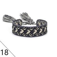 Wholesale bracelets for couples resale online - Adjustable couple cotton woven Bracelets Lovers Bracelet Embroidery Tassel For Women men Rope Bracelet bangle friendship Jewelry