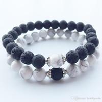 Natural Stone Bracelets 2018 Hot New Lava Volcanic Stone White Turquoise Bracelet Wholesale Handmade Beads Bracelets for Men Women Jewelry