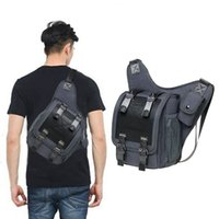 Wholesale kaukko bags for sale - Group buy KAUKKO Men s Waterproof Canvas Chest Sling Bag Travel Hiking Cross Body Messenger Shoulder Solid Men Bag