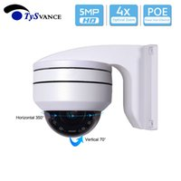 mini zoom cctv kamera toptan satış-PoE HD 5MP IR Kapalı Mini CCTV Güvenlik PTZ Dome Kamera 5.0MP 4X Optik Zoom H.265 ONVIF Ev Gözetim IP Kamera