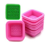 100% Handmade Soap Molds DIY Square Silicone Moulds Baking Mold Craft Art Making Tool DIY Cake Mold Free Ship