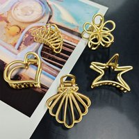 Wholesale hair claw korean for sale - Group buy Korean New Clip Claw Fashion Girl Hair Claws Golden Hair Crab Clamp Hairgrip Hairdressing Tool Hair Accessories for Women
