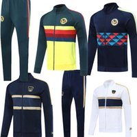 Wholesale mexico training suit for sale - Group buy 2020 P UNAM Mexico club America tracksuit soccer jacket suit C BLANCO Full zipper Football club sportswear training sets
