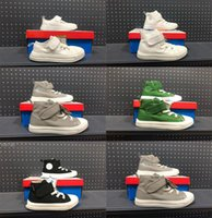 Wholesale green boys canvas shoes resale online - Infant Toddlers chucks s Grey Canvas casual shoes skateboard Kids Children High Cut black Chuck All Stars Green Classic Boys Sneakers