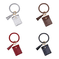 Wholesale direct party supplies resale online - Crocodile Patterns Coin Purse Bracelet Pendant Keychains Tassels Keyring Easy To Go Out Colorful Factory Direct jm E2