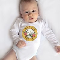 Wholesale funny newborn baby boy clothes for sale - Group buy Guns N Roses Printed Funny Newborn Baby Bodysuit Long Sleeve Body Baby Boy Onesie Cotton Infant Baby Girl Rompers Clothes