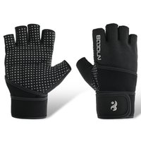 Wholesale wrist protection gloves resale online - Movement Fitness Protection wrist Sports Gloves Sport Exercise Weight Lifting breathable Gloves Body Building Gym Equipment