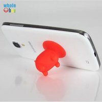 Wholesale tablets chinese free shipping resale online - 500pcs Universal Silica Gel Multi Color cartoon Pig Sucker Stand Holder lazy bracket for Cellphone Tablet Accessory