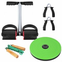 Wholesale waist twisting board for sale - Group buy 5 Fitness Set with Spring Pedal Puller Waist Twist Board Hand Grip Adjustable Jump Rope For Gym Exercise Fitness Equipment sSXu