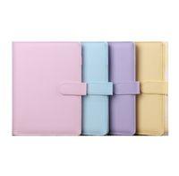 A6 PU Book notepads cute multi colors notebook no paper inside school office supplies by ocean A10
