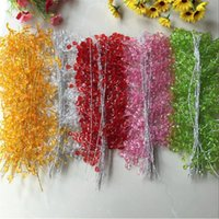 Wholesale ornament flower resale online - Crystal Long Cane Accessories Wedding Decorations Bridal Hair Ornament Hand Holding Flower Material Diy Decoration Supplies by B2