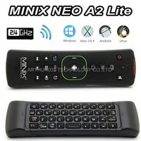 Wholesale android tv box minix resale online - MINIX NEO A2 Lite GHZ Wireless Mini Keyboard Fly Air Mouse Six axis Gyroscope Accelerometer for X8 H Plus Android TV Box Dongle MINI PC
