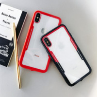 Wholesale iphone 5s case black online – custom Shockproof Protective Tempered Glass Phone Case For iPhone X XS Pro MAX XR S SE S Plus Cases capa