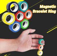 Wholesale bracelets magnets for sale - Group buy Finger Toy Magnetic Bracelet Ring Anti Stress Relief Finger children adult Game Magnet finger ring for gift Decompression Toy gift EWC723