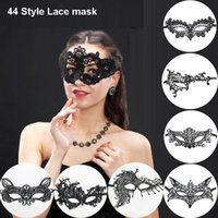 Wholesale catwoman face mask for sale - Group buy Sexy Lace Party Masks Masquerade Halloween Masks Party Cosplay Catwoman Eye Maske Carnival Ball Face Women Carnaval Masque Prop CHR