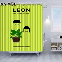 Wholesale hook movies resale online - VIXMHOME Movie Leon Shower Curtains Killer Partner Bath Curtain Character Comics Little Girl Bathroom Curtains Decor Waterproof With Hooks