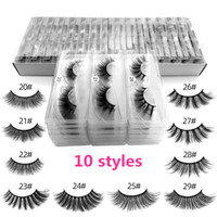 Wholesale plastic eye lash box resale online - 3D Mink Eyelashes Individual Eyelash Extensions D Mink Lashes Private Logo Custom Eye lash Packaging Box False Mink Eye Lash Package Boxes