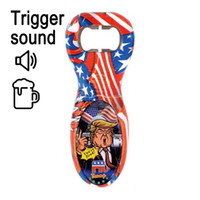 Wholesale bottle opener party resale online - Trump Bottle Opener Portable Sound Voice Funny Stainless Steel Wine Beer Openers Kitchen Gadget Party Favors LJJO8267