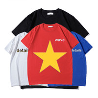Wholesale mens summer t shirts pairs fashion shirts wave letter printed classic fashion women men casual short sleeve