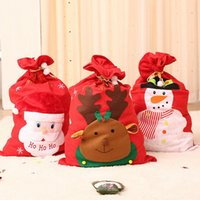 ingrosso container big bag-Big Christmas Santa Snowman Elk Stampa Sweet Candy Gift Bag storage contenitore DFEx #