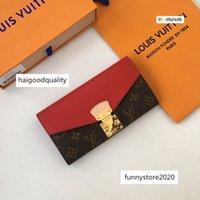 Wholesale key chain s for sale - Group buy M58414 Finely printed cowhide flap S lock LEATHER Compact Long Wallets Chain wallet Pouches Key Card Holders Phone Cases