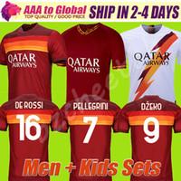 Wholesale best thailand resale online - Best thailand DE ROSSI DZEKO ZANIOLO soccer jersey rome TOTTI AS PEROTTI jersey football kit shirt ROME Men and Kids
