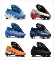 Wholesale neymar jr new cleats resale online - 2020Mercurial Elite SG high soccer shoes sneakers football cleats boots Neymar Jr new lights under the radar cr7 youth kids adult dream s