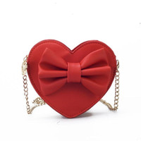 Wholesale cute bags teens for sale - Group buy 2020 Cute Handbags For Teen Kids Mini Hand bag Quality PU Leather Women bag Big Bow Chain Shoulder Travel bags Coin Purse