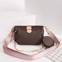 Wholesale best leather ladies bags resale online - Best selling fashion Genuine Leather Shoulder Handbag Multi L Accessories Flower Pouch Ladies Shoulder Bag Handbags Pieces Coin Purse