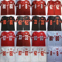 Wholesale black rice for sale - Group buy NCAA Roger Craig Football Jersey Mens Ronnie Lott Jerry Rice Dwight Clark Steve Young Red Black White Retro Football Jerseys Stitched