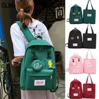 Wholesale junior backpacks for sale - Group buy 7EtQB New schoolbag female Korean style Bag backpack campus Harajuku high school students simple all match junior high school student backpa