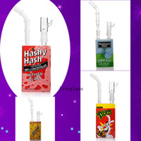 Wholesale cereal boxes resale online - 2020 Handmade Liquid Glass Cereal Box Designed Oil Dab Rig Heady Glass Water Pipes With Domeless Mini Bong Smoking Accessories Inch