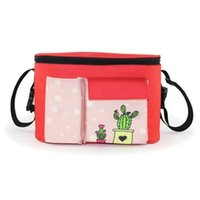 Wholesale mother bags for baby resale online - Premium Quality Cartoon Cute Animal Print Baby Stroller Organizer Bag With Shoulder Strap For Mom Mother
