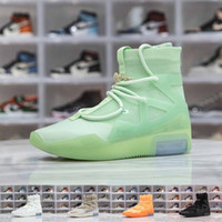 Wholesale male shoes blue for sale - Group buy Mens Fear of God Mid Shoes FOG Casual Shoes Top Quality Trainers Outdoor Sports Shoot Around Sneakers for Male Size D0721