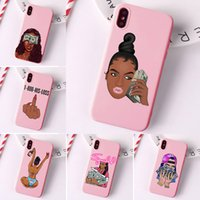 Wholesale iphone case 5s for sale – best make money black head girl phone case for iphone case xr pro max x xs max S s plus matte pink tpu i phone case