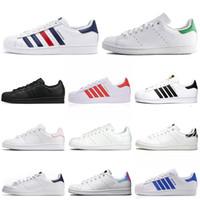 Wholesale new stan smith men women flat casual shoes triple black white green pink navy blue zebra mens shoes